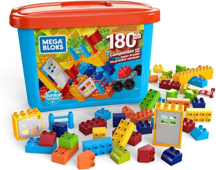 GJD22 Mega Bloks Mini Bulk Tub - Large 180 PCS MATTEL