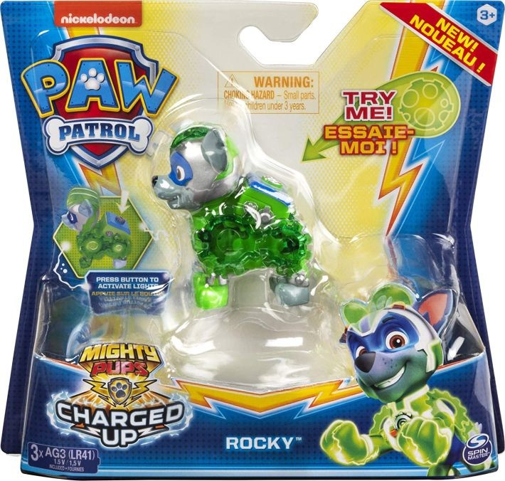 6055929 Spin Master Paw Patrol Mighty Pups Charged Up Figure - CHASE