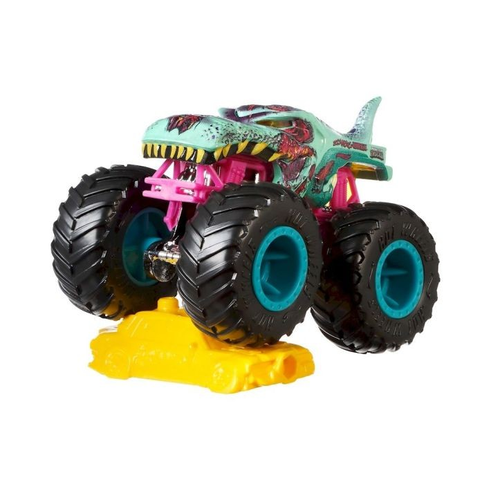 GBT40 / FYJ44 Hot Wheels Monster Trucks Zombie Wrex Sick Stuff 1/5 with Connect and Crash Car