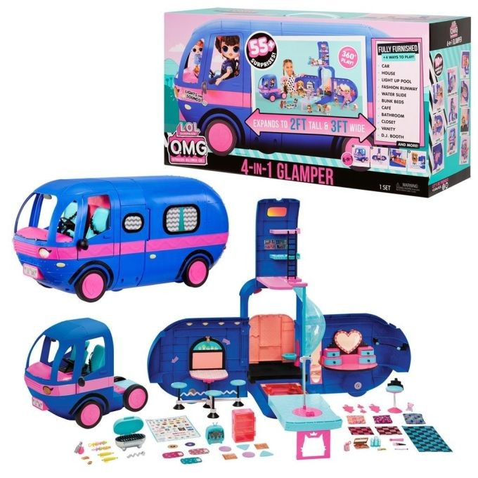 LOL 569459  Surprise 4-in-1 Glamper Fashion Camper - With 55+ Surprises Автобус Кемпер 55 сюрпризов