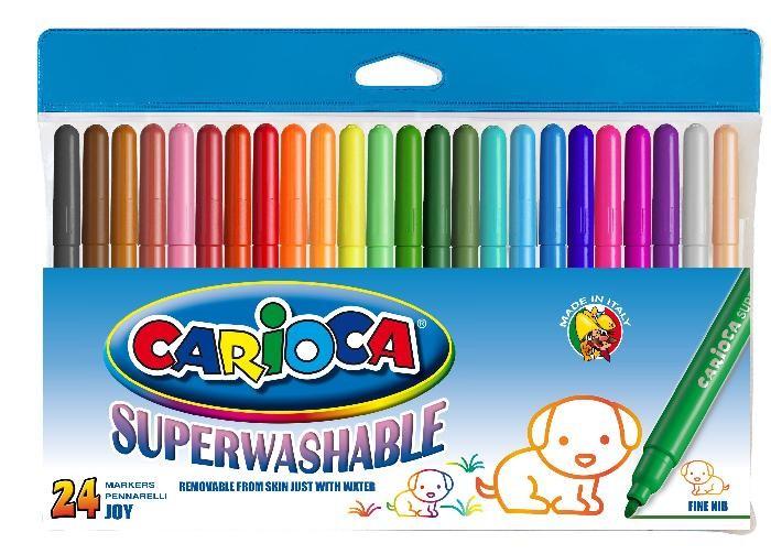 (Ir Uz Vietas) Carioca JOY Flomasteri 24 krāsas