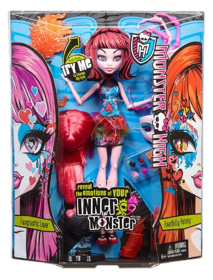 BJR24 / BJR25 Monster High Inner Monster Fangtastic Love Fearfully Feisty
