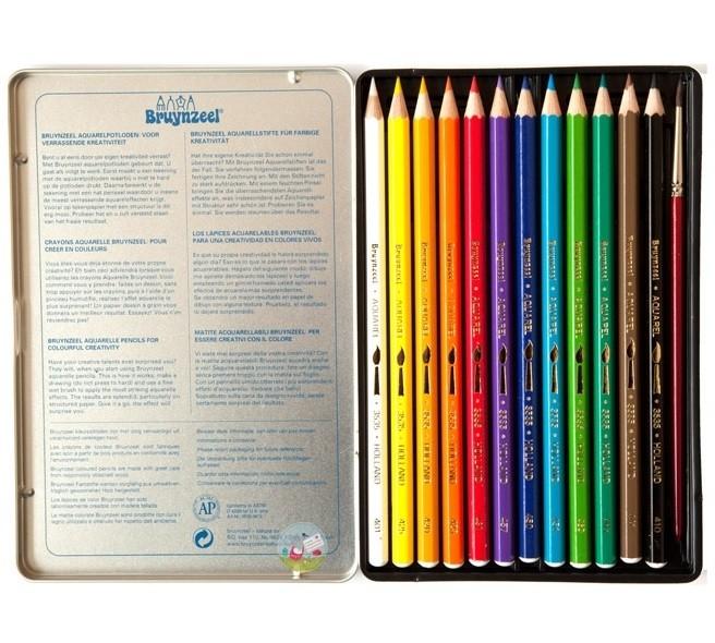 Krāsainie akvareļu zīmuļi Bruynzeel 12 Krasas 3535