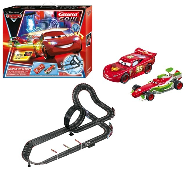 Carrera 62332 Trase Cars 2 (Vāģi 2) NEON SHIFT`N DRIFT 1:43 6.2m