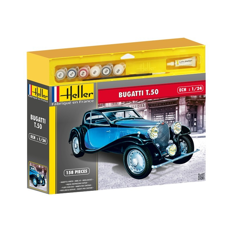 Heller Līmējamais modelis Automašīna 50706 BUGATTI T.50 1/24