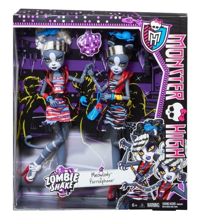 Lelles Mattel Monster High Meowlody & Purrsephone BJR16 / BJR15