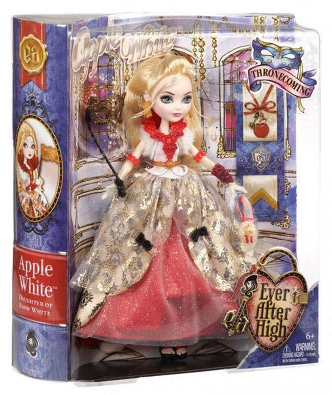CBT83 /CBT76 / CBT80 / CBT86 Ever After High Thronecoming Apple White Doll  MATTEL